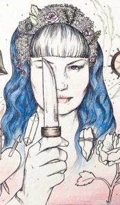 blue knife aurora lady