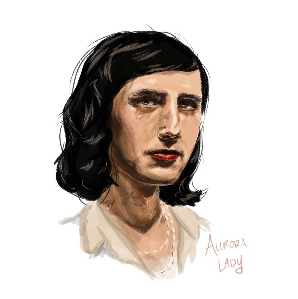 aurora lady ezra furman portrait