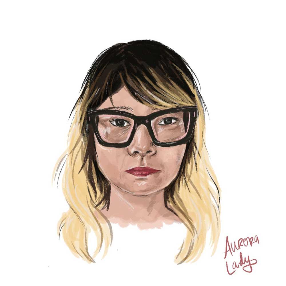 aurora lady yumi Sakugawa art portrait