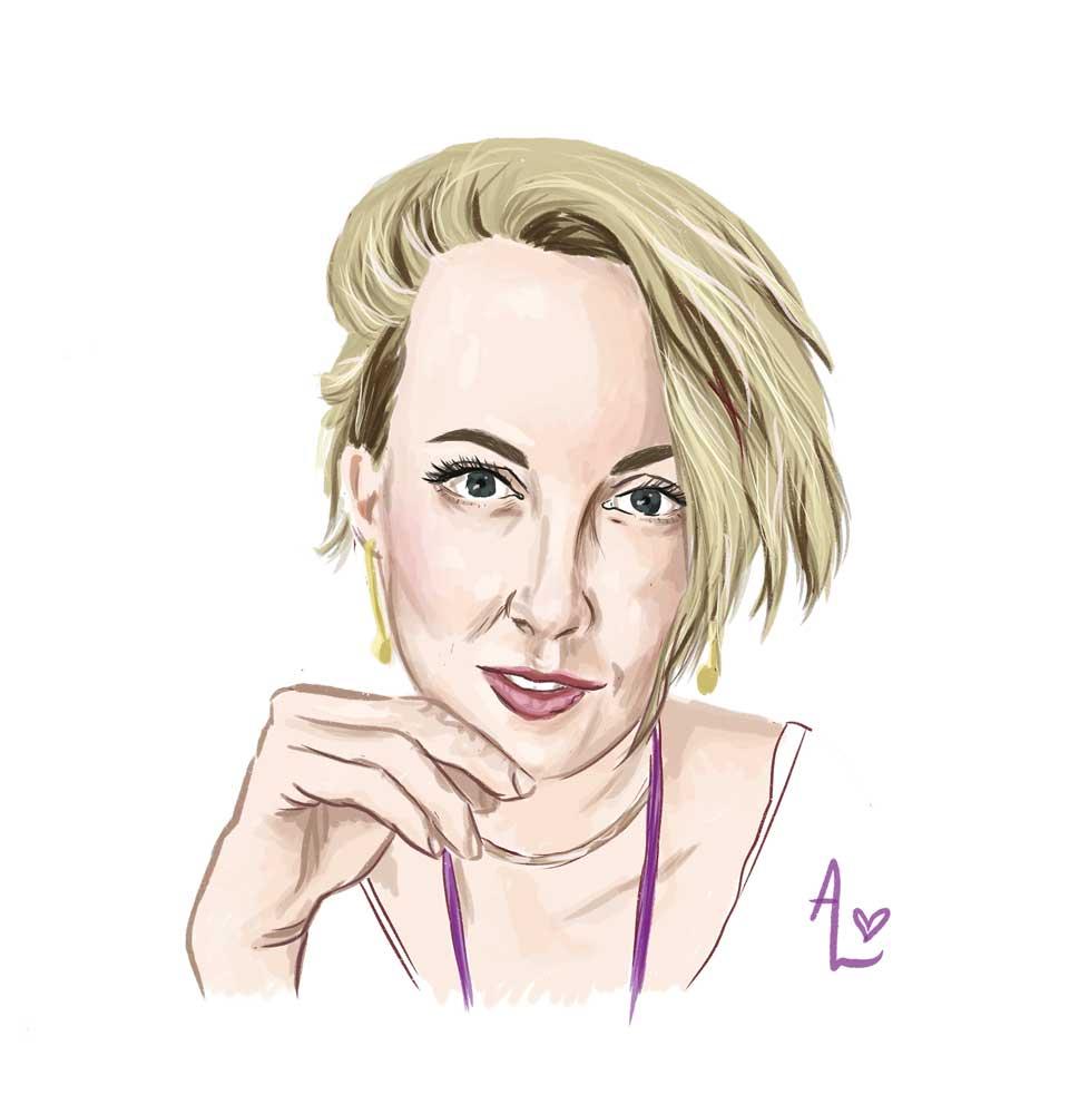 caitlin matanle aurora lady portrait